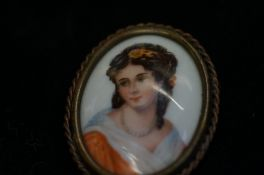 Limoges hand Painted Brooch