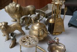 Collection of Brassware