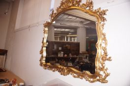 Large Gilt Framed Mirror - 102 cm x 120cm
