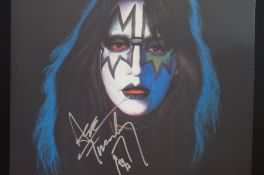 Kiss LP Signed by Ace Frehley with COA Stamp from