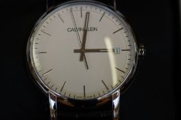 Gents Calvin Klein calendar wristwatch (as new)