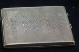 Art Deco 1930s Silver Cigarette Case - 10cm & 138g