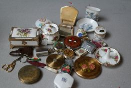 Collection of Compacts, Porcelain and Others