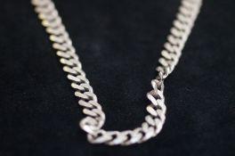 Gents Silver Curb Chain, 67g