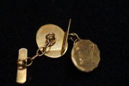 Pair of 9ct Gold Cufflinks - 2.2g