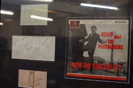 Signed Gerry and The Pacemakers Framed Montage