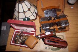 Box of Costume Jewellery, Telescope, Gents Groomin