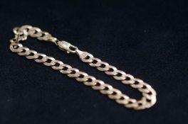 9ct Gold Curb Bracelet - 8.7g