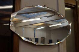 Art Deco Bevelled Frameless Mirror