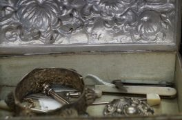 Box Containing MOP Silver Fruit Knife, Silver Hall