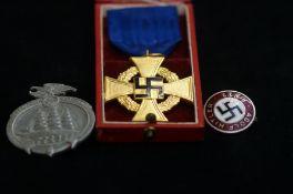 German Medal and 3 German Badges