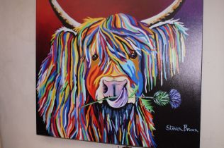 Large Wall Canvas by Stephen Brown 101x101cm