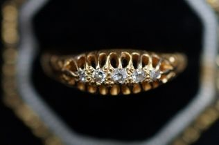 18ct Gold Ring set with Five Diamonds