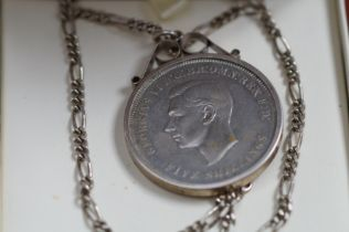 1951 Mounted Crown with Silver Chain