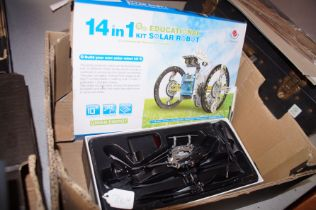 Remote Control Helicopter together with a Solar Ro