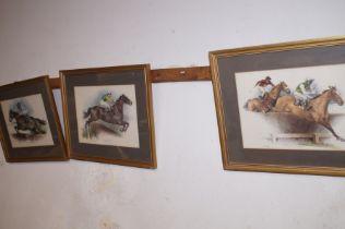 Three Horse Racing Prints