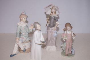 Three Lladro Figures, Clown AF