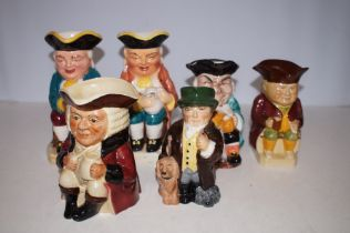 Collection of Six Toby Jugs