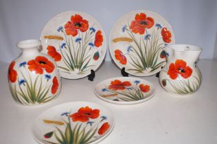 Collection of Italian Hand Painted Pottery Signed