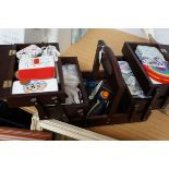 Cantilever Sewing Box and Contents