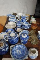 Collection of Blue and White Pottery to include Sp