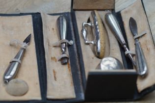 Leather case and silver nail care