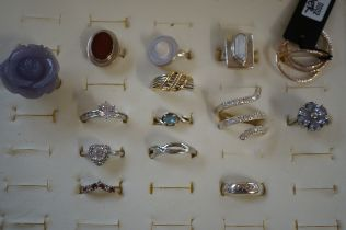 14 Silver Dress Rings in High Quality Presentation