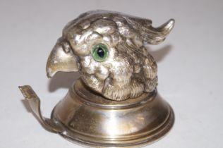 Silver plated parrot tape dispenser