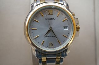Gents Seiko Kinetic Wristwatch in Original Fitted