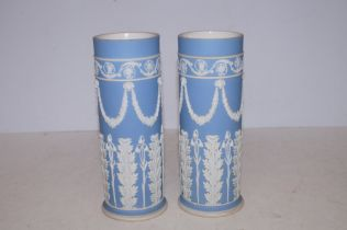 Pair of Wedgewood Victorian Spill Vases - 20cm h