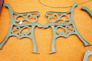 Pair of Cast Iron Bench Ends