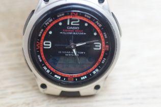 Casio fishing gear wristwatch