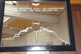 Etched Batman Mirror