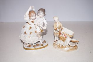 Two early 20th Century Ceramic Groups