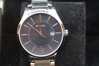 Bulova wristwatch with date app, as new