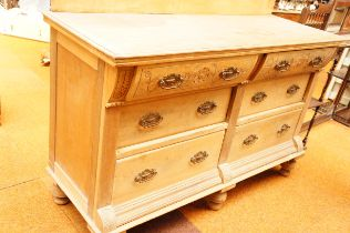 Early 20th Century Pine Set of Drawers - 59in