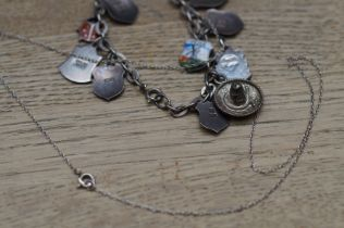 Silver charm bracelet & necklace