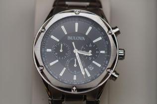 Bulova chronograph wristwatch, as new