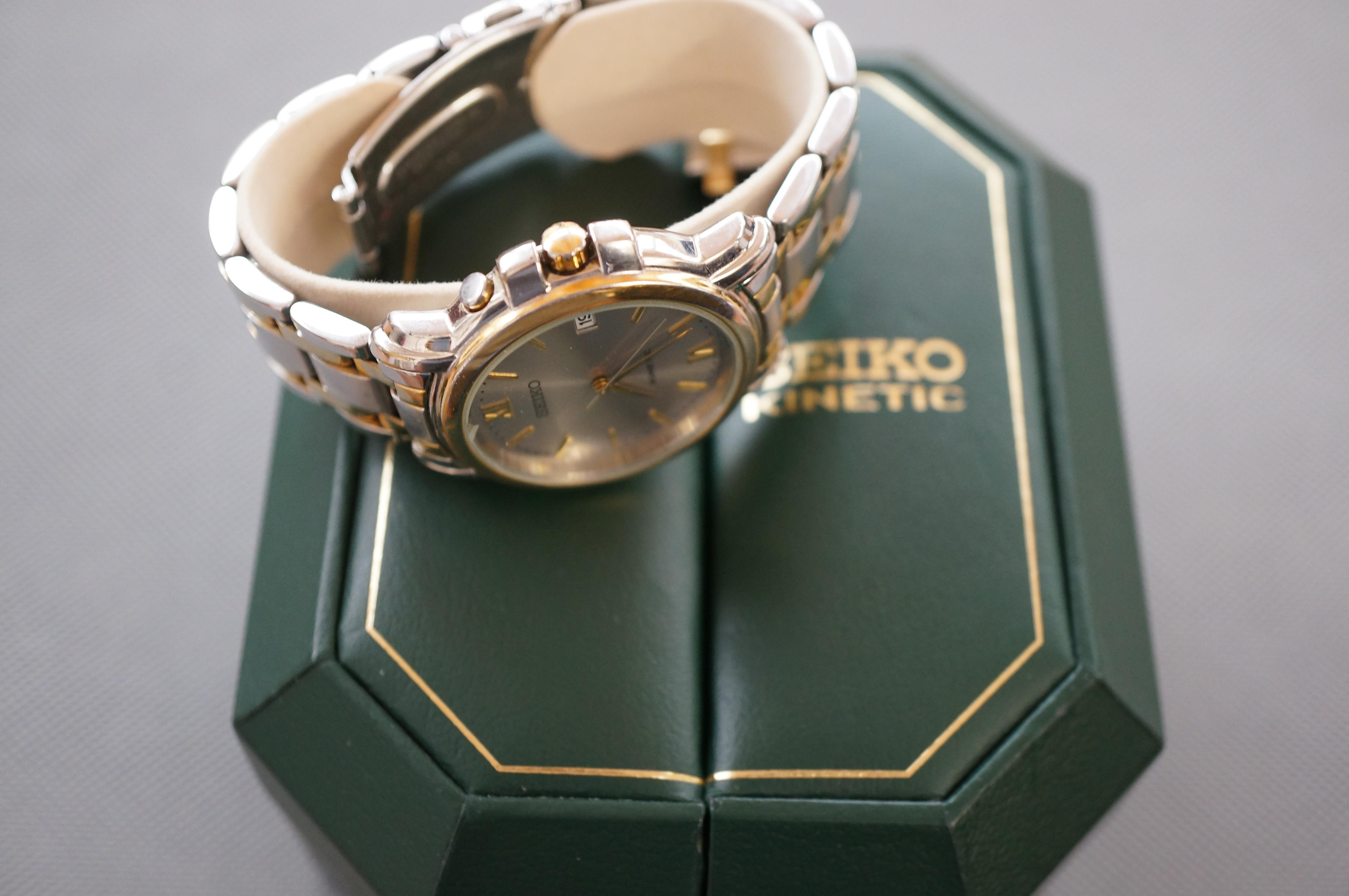 Gents Seiko Kinetic Wristwatch in Original Fitted - Image 2 of 2