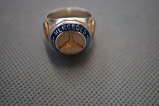Mercedes Silver Ring - Size S