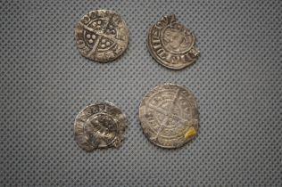 Edward III? Four Silver Coins