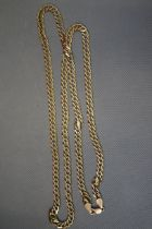 9ct Gold Curb Chain - 30in, 27g