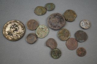 Collection of Roman Coins and Others