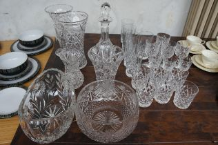 Collection of good quality Crystal Ware, Some name