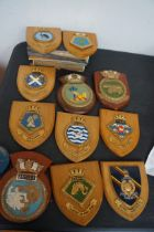 Collection of 12 Royal Navy Shields