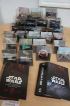 Collection of 25 Star Wars Models together with Tw