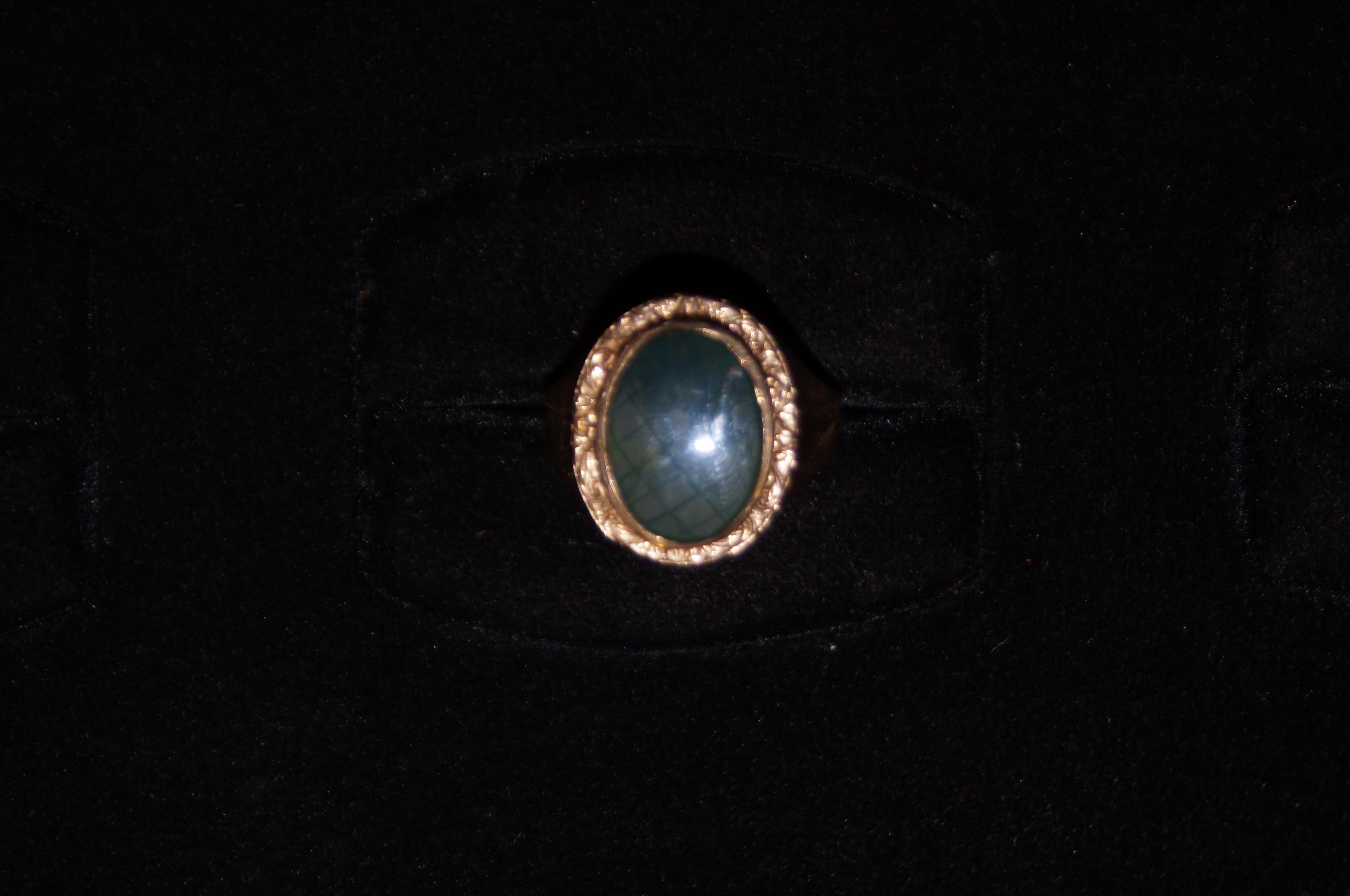 9ct Gold Green Onyx Ring- 8.6g