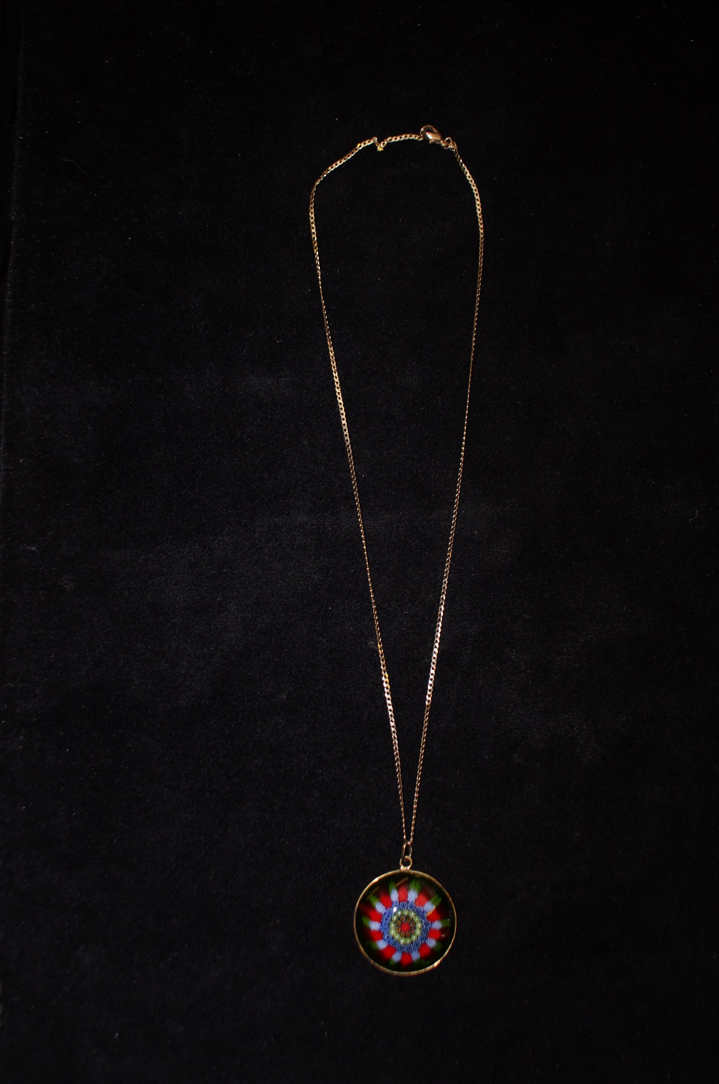 9ct Gold Murano Necklace - 10g - Image 2 of 2