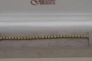 9ct Gold Tennis Bracelet set with Diamonds