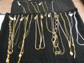 Collection of costume jewellery necklaces